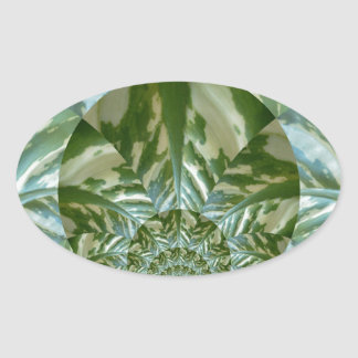Eco - Going Green Environmental Friendly Colors Oval Sticker