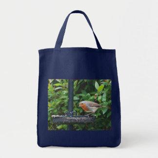Eco Grocery Bag: British Robin Tote Bag