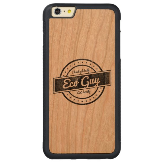 Eco Guy Carved Cherry iPhone 6 Plus Bumper