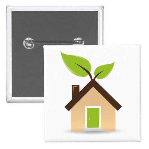 Eco House Pinback Buttons