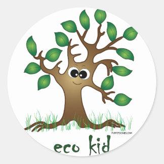 Eco Kid Round Sticker