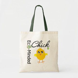 Eco-Minded Chick Tote Bag
