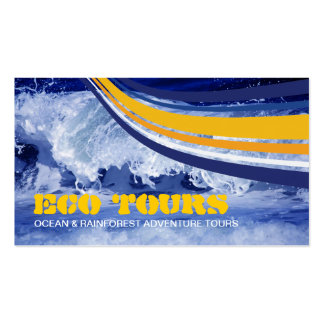 Eco Ocean Crash Stripes Yellow Blue Pack Of Standard Business Cards