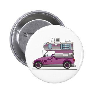 Eco Pick Up Camper Purple 6 Cm Round Badge