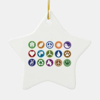 Eco Symbols Christmas Ornament