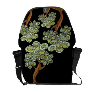 Eco Tree Abstract Print on Black Commuter Bags