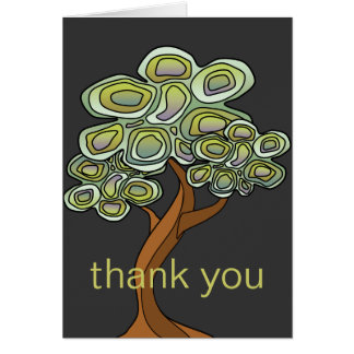 Eco Tree Thank You Notecard Note Card