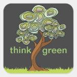Eco Tree Think Green Sticker