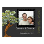 Eco Tree Wedding Save the Date Post Card