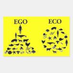 Eco vs Ego Rectangular Sticker
