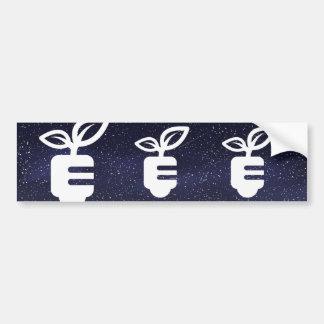 Ecologic Plants Symbol Bumper Sticker