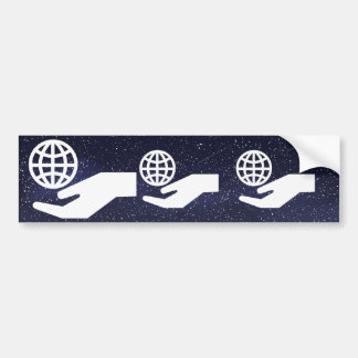 Ecological Globes Minimal Bumper Sticker