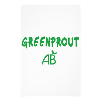 Ecological Greenprout Customized Stationery