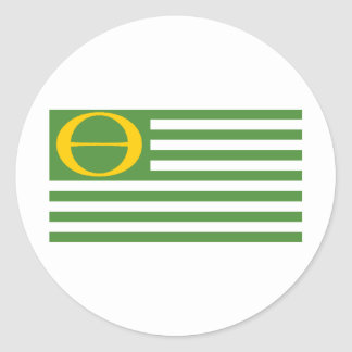 Ecology Flag Classic Round Sticker