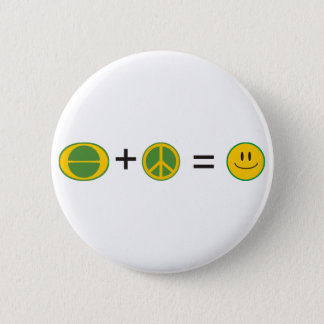 Ecology Peace Happiness 6 Cm Round Badge