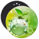 Ecology : the earth is our house - 6 cm round badge