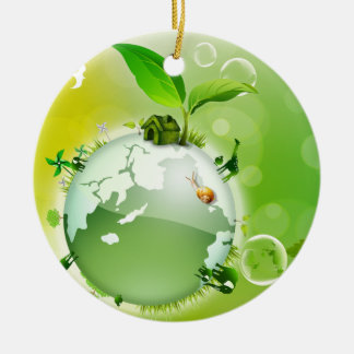 Ecology : the earth is our house - christmas ornament