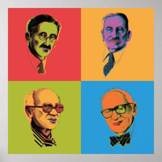Econ Poster - Mises, Hayek, Rothbard, Friedman