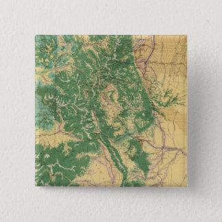 Economic Map of Colorado 15 Cm Square Badge