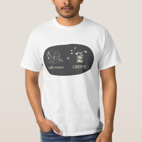 Economic tee-shirt | Freedom - black bottom T-Shirt