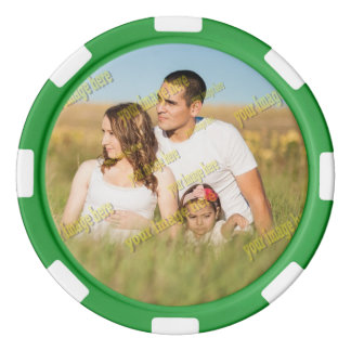 Economical Family Photo Digital Template Poker Chips