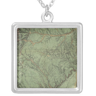 Economical Features of Colorado and New Mexico Silver Plated Necklace