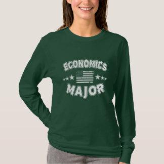 Economics College Major Patriotic American Flag T-Shirt