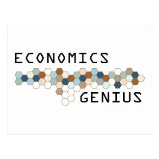 Economics Genius Postcard
