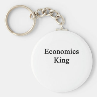 Economics King Basic Round Button Key Ring