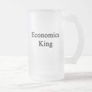 Economics King Frosted Glass Mug