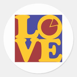 Economics Love Round Sticker