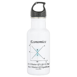 Economics Not Matter Of Life Or Death Equilibrium 532 Ml Water Bottle