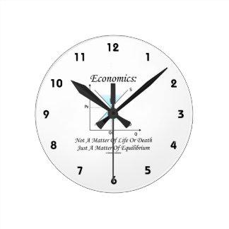 Economics Not Matter Of Life Or Death Equilibrium Clock