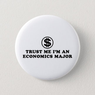 Economics Student 6 Cm Round Badge