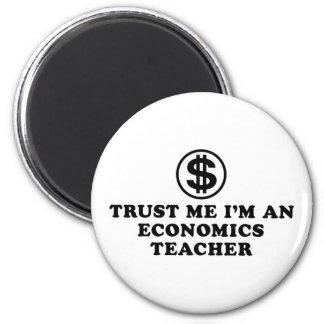 Economics Teacher 6 Cm Round Magnet