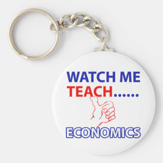 ECONOMICS teacher design Basic Round Button Key Ring