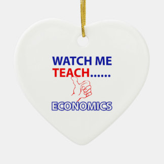 ECONOMICS teacher design Ceramic Heart Decoration