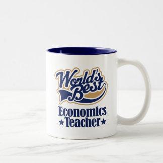 Economics Teacher Gift For (Worlds Best) Two-Tone Mug