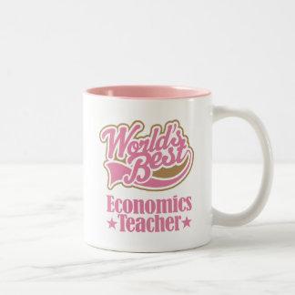 Economics Teacher Gift (Worlds Best) Two-Tone Mug