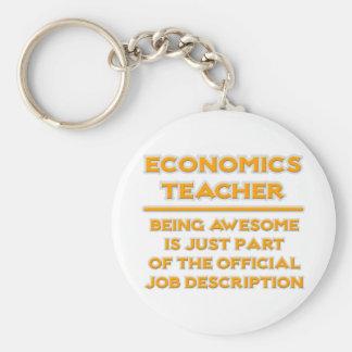 Economics Teacher .. Job Description Basic Round Button Keychain