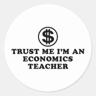 Economics Teacher Round Sticker