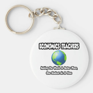 Economics Teachers...World a Better Place Keychain