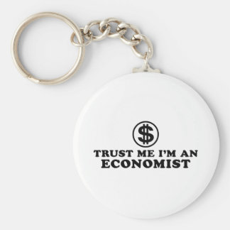 Economist Basic Round Button Key Ring
