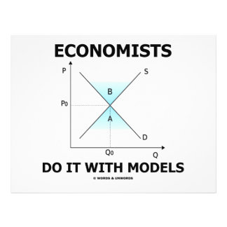 Economists Do It With Models (Economics Humour) Flyer Design
