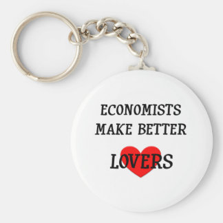 Economists Make Better Lovers Basic Round Button Key Ring