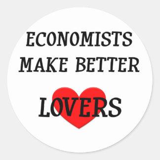 Economists Make Better Lovers Round Sticker