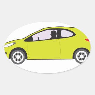 Economy Car Oval Sticker