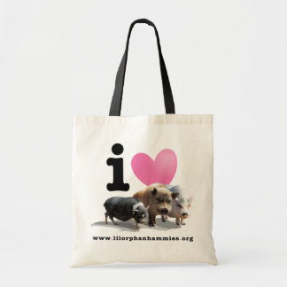 Economy I <3 Pigs Tote Tote Bags