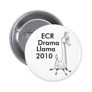 ECR Drama Llama 2010 6 Cm Round Badge