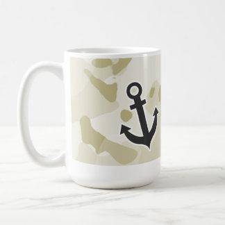 Ecru Camo; Anchor Classic White Coffee Mug
